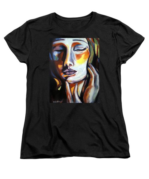 Women's T-Shirt (Standard Cut) featuring the painting Emotion by Helena Wierzbicki