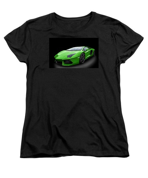 Green Aventador Women's T-Shirt (Standard Cut) by Matt Malloy