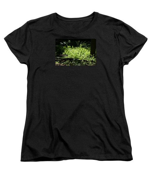 Women's T-Shirt (Standard Cut) featuring the photograph In The Woods by Heidi Poulin