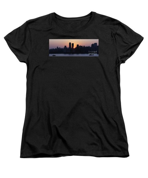 Women's T-Shirt (Standard Cut) featuring the photograph Morning On The Hudson by Lilliana Mendez