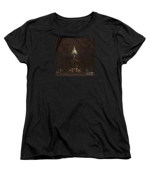 Notre Dame Golden Dome Snow Women's T-Shirt (Standard Cut)