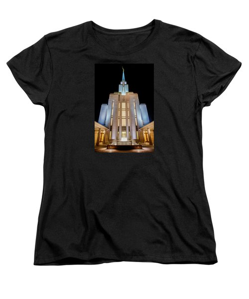 Oquirrh Mountain Temple 1 Women's T-Shirt (Standard Fit)