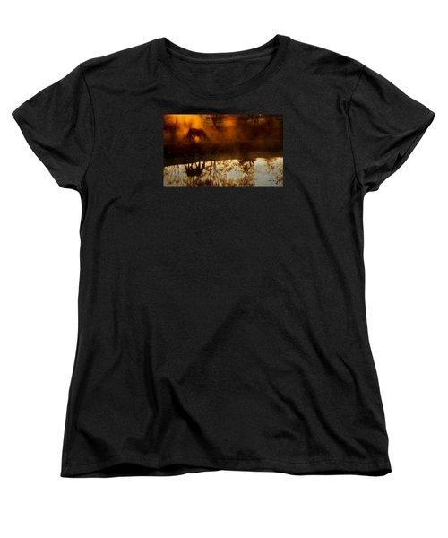 Women's T-Shirt (Standard Cut) featuring the photograph Orange Mist by Joan Davis