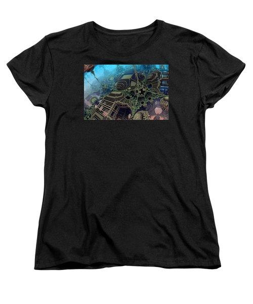 Parallel World  Women's T-Shirt (Standard Cut) by Evgeniy Lankin