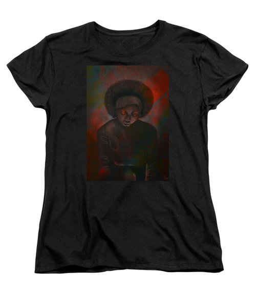 Women's T-Shirt (Standard Cut) featuring the painting Reciprocity by AC Williams