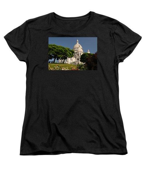 Sacre Coeur Women's T-Shirt (Standard Cut) by Jeremy Voisey