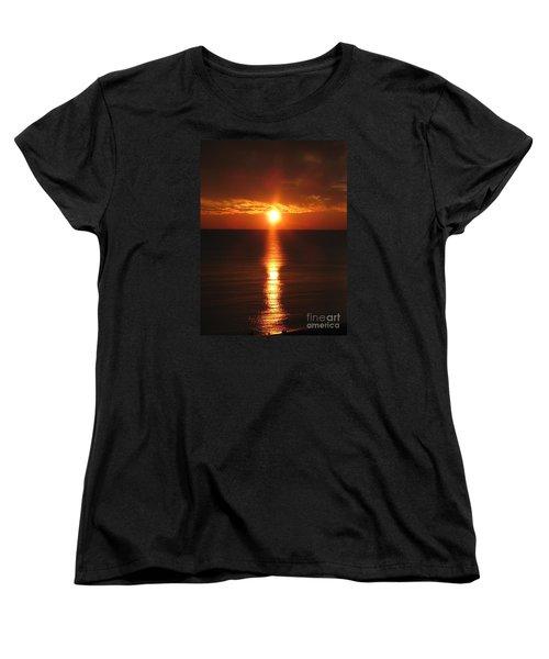Sky On Fire Women's T-Shirt (Standard Cut) by Christiane Schulze Art And Photography