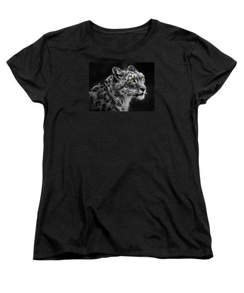 Snow Leopard Women's T-Shirt (Standard Cut) by Nina Bradica