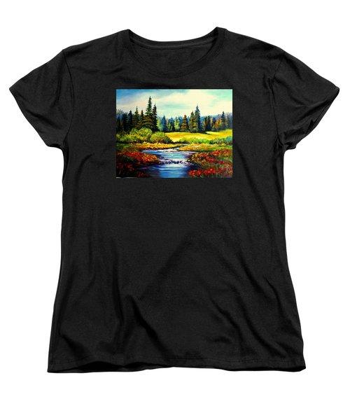 Springtime Women's T-Shirt (Standard Cut) by Hazel Holland