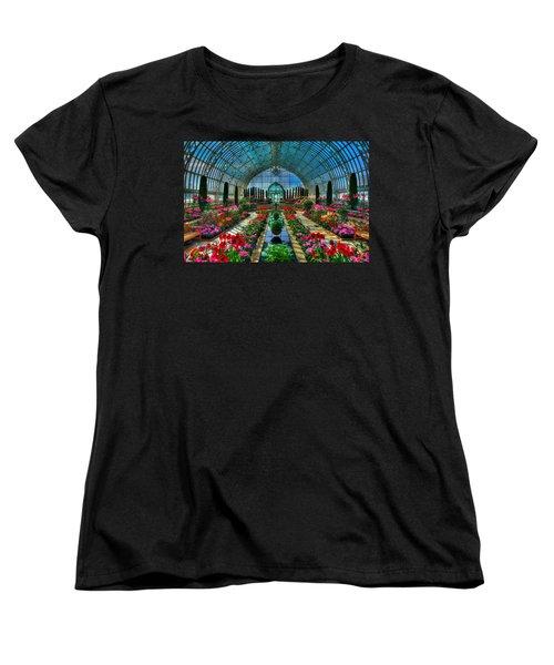 Sunken Garden Como Conservatory Women's T-Shirt (Standard Cut) by Amanda Stadther