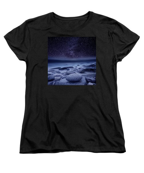 The Cosmos Women's T-Shirt (Standard Cut) by Jorge Maia