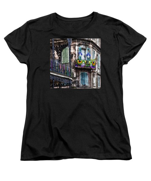 The French Quarter During Mardi Gras Women's T-Shirt (Standard Cut) by Mountain Dreams