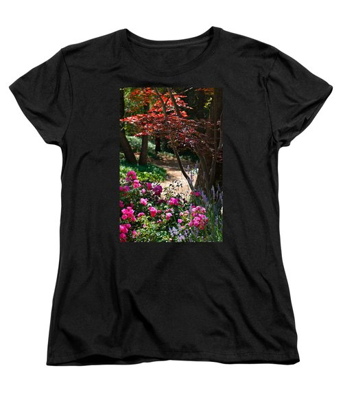 Women's T-Shirt (Standard Cut) featuring the photograph The Garden Path by Michele Myers