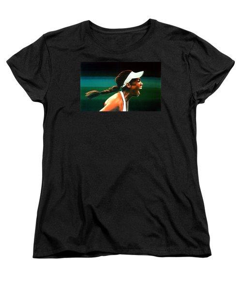 Venus Williams Women's T-Shirt (Standard Cut) by Paul Meijering