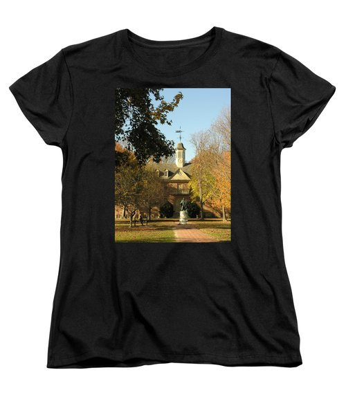William And Mary College Women's T-Shirt (Standard Cut) by Jacqueline M Lewis