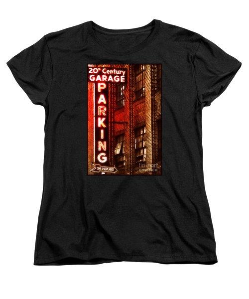 24-hour Garage Women's T-Shirt (Standard Cut) by Miriam Danar