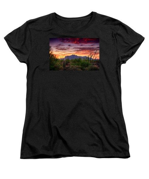 A Superstition Sunrise  Women's T-Shirt (Standard Cut) by Saija  Lehtonen
