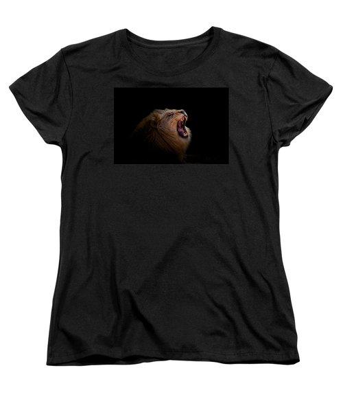 Women's T-Shirt (Standard Cut) featuring the photograph African Lion by Peter Lakomy