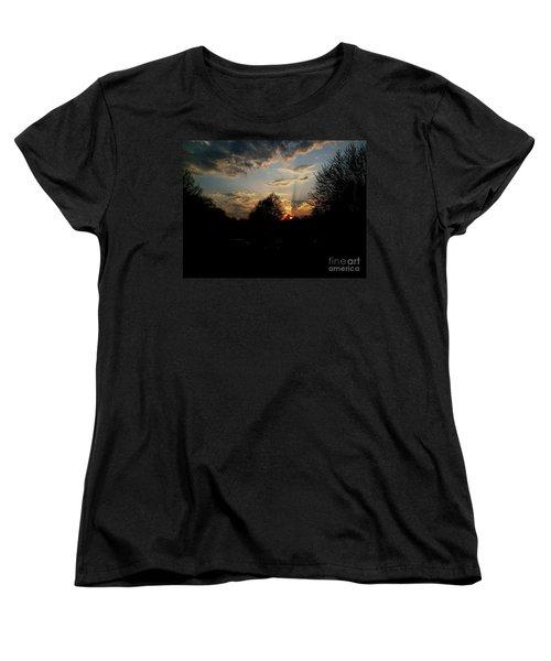 Beauty In The Sky Women's T-Shirt (Standard Cut) by Kelly Awad
