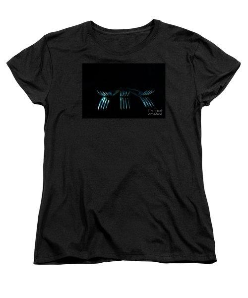 Women's T-Shirt (Standard Cut) featuring the photograph 3 Forks by Randi Grace Nilsberg