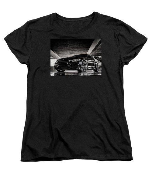Women's T-Shirt (Standard Cut) featuring the digital art I Take Mine Black by Douglas Pittman