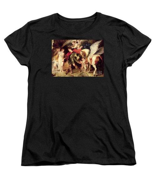 Perseus Liberating Andromeda Women's T-Shirt (Standard Cut) by Peter Paul Rubens
