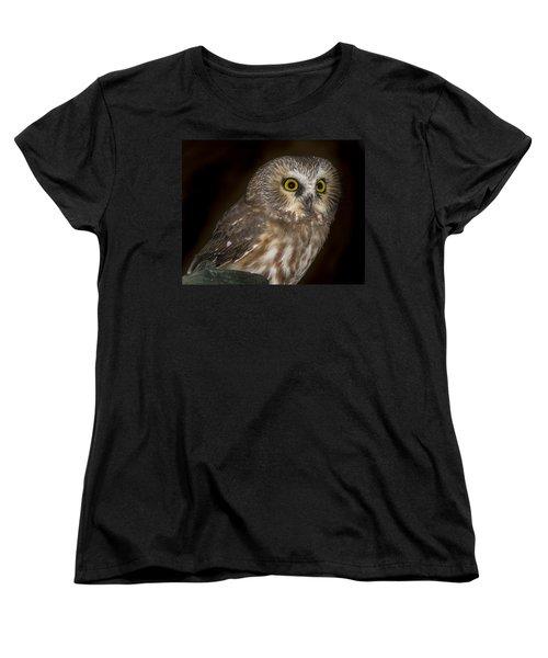 Saw-whet Women's T-Shirt (Standard Cut) by Jean Noren