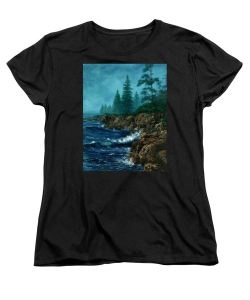 Women's T-Shirt (Standard Cut) featuring the painting Solitude by Lynne Wright