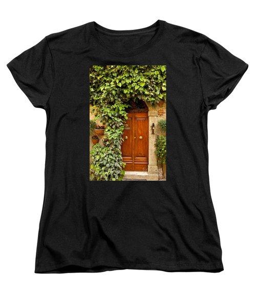 Tuscan Door Women's T-Shirt (Standard Cut) by Brian Jannsen