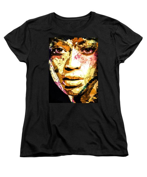 Beyonce Women's T-Shirt (Standard Cut) by Svelby Art