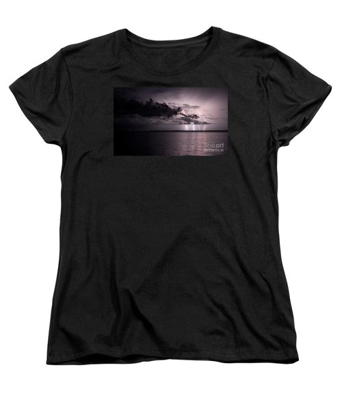 4 Bolts Over Captiva Island Women's T-Shirt (Standard Cut) by Quinn Sedam