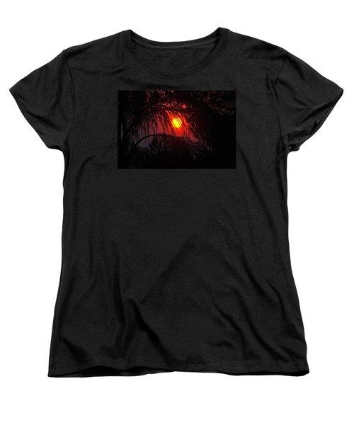 Fire In The Sky Women's T-Shirt (Standard Cut) by Jay Milo