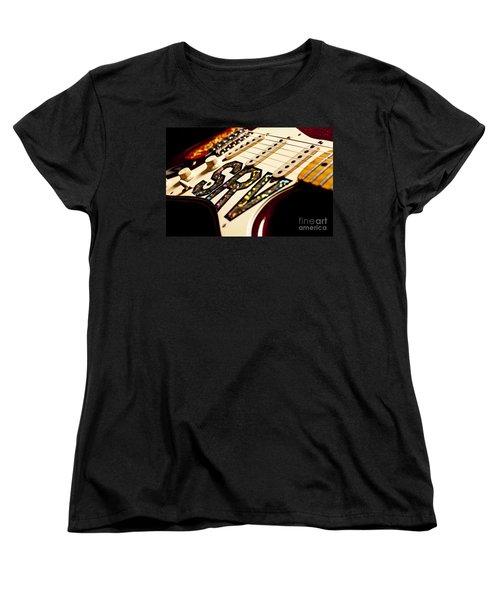 Replica Stevie Ray Vaughn Electric Guitar Artistic Women's T-Shirt (Standard Cut) by Jani Bryson