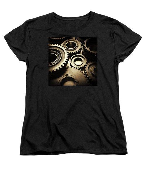Cogs Women's T-Shirt (Standard Cut) by Les Cunliffe