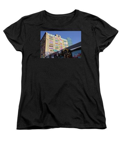 5 Pointz Graffiti Art 2 Women's T-Shirt (Standard Cut) by Allen Beatty