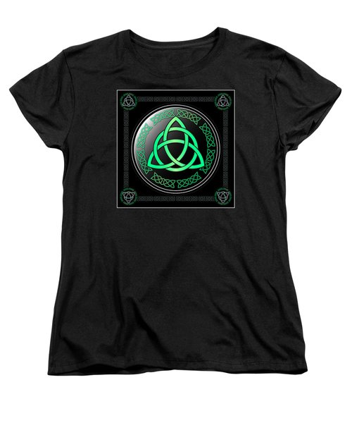 Triquetra Women's T-Shirt (Standard Cut) by Ireland Calling
