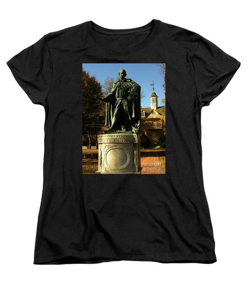 William And Mary College With Wren Building Women's T-Shirt (Standard Cut) by Jacqueline M Lewis