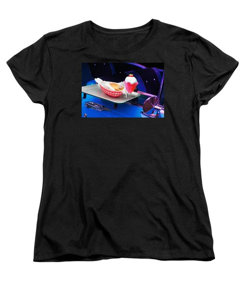 57 Chevy At A Drive-in Women's T-Shirt (Standard Cut) by Gunter Nezhoda