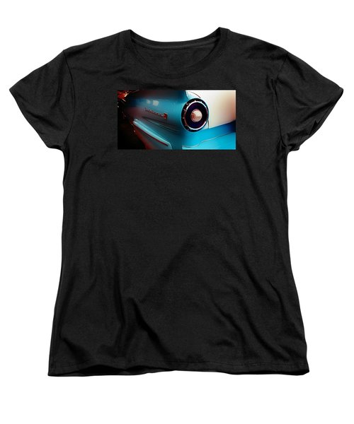 Vintage Women's T-Shirt (Standard Cut) featuring the photograph '57 Fairlane 500 by Aaron Berg