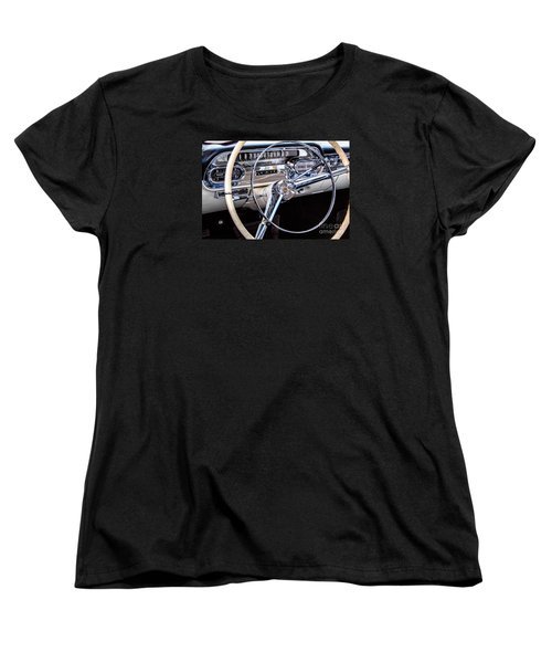 58 Cadillac Dashboard Women's T-Shirt (Standard Cut) by Jerry Fornarotto