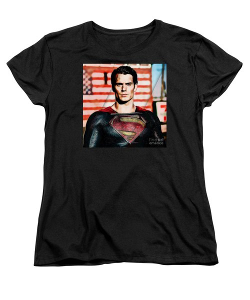 Superman Women's T-Shirt (Standard Cut) by Marvin Blaine