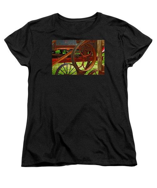 Wheels Of Time Women's T-Shirt (Standard Cut) by Rowana Ray