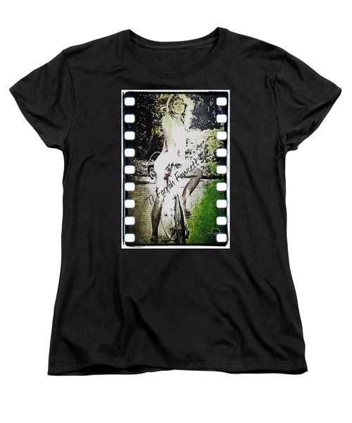 '77 Farrah Fawcett Women's T-Shirt (Standard Cut) by Absinthe Art By Michelle LeAnn Scott