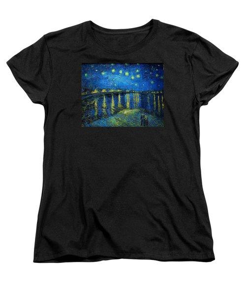 Starry Night Over The Rhone Women's T-Shirt (Standard Cut) by Vincent van Gogh