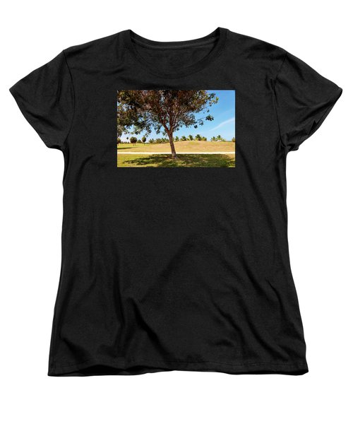Women's T-Shirt (Standard Cut) featuring the photograph 96 Degrees In Da Shade by Amar Sheow