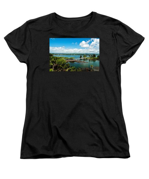 A Beautiful Day Over Hilo Bay Women's T-Shirt (Standard Cut) by Christopher Holmes