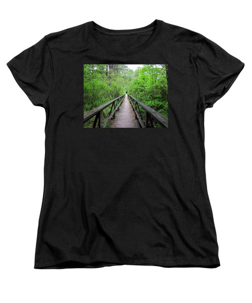 A Bridge To Somewhere Women's T-Shirt (Standard Cut) by MTBobbins Photography