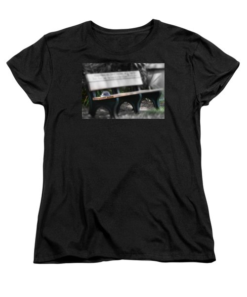 Women's T-Shirt (Standard Cut) featuring the photograph A Child Somewhere In My Dreams by DigiArt Diaries by Vicky B Fuller