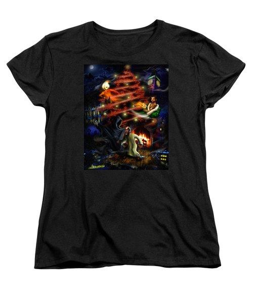 A Christmas Carol Women's T-Shirt (Standard Cut) by Alessandro Della Pietra