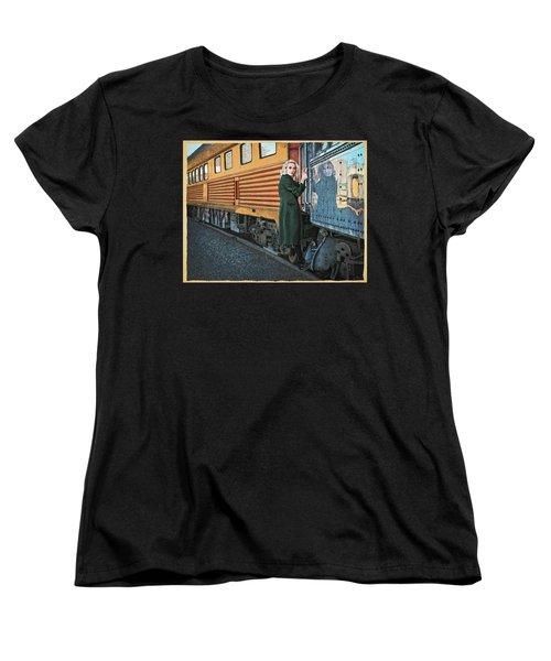 A Departure Women's T-Shirt (Standard Cut) by Meg Shearer